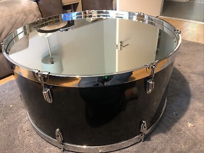 "Mirrored Drum Coffe Table, Large 30"" Diameter • 100£"