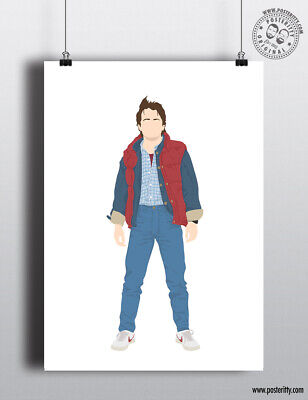 £8 • Buy MARTY MCFLY - Back To Future - 80's Icons Poster Minimal Print By Posteritty Art
