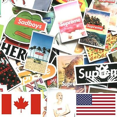 $ CDN8.49 • Buy Lot 60 Supreme Sticker Bomb Skateboard Skate Luggage Laptop Locker Car Hypebeast