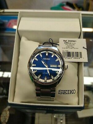 $ CDN105.92 • Buy SEIKO Recraft Automatic Blue Dial 21 Jewel Mens Watch SNKN41