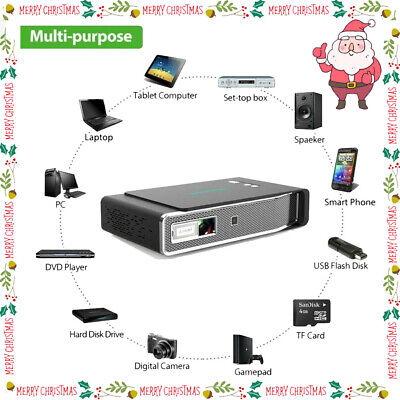 8500Lumen 1080P 3D LED 4K Android Wifi Video Home Theater Projector Cinema HDMI • 311.17£