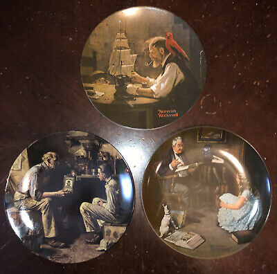 $ CDN56.49 • Buy 3 Norman Rockwell Collector Plates