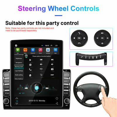 Bluetooth 9.7In Car MP5 Multimedia Player Stereo GPS Sat Navi Radio Android 8.1 • 109.99£