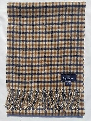 £34.99 • Buy Aquascutum Scarf 100% Lambswool For Men And Women Made In England Beige