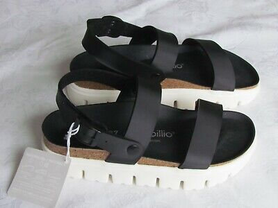 NEW Papillio By Birkenstock Cameron Ladies Black Chunky Sole Sandals 4.5 EU 37 • 59.99£