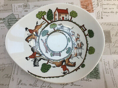 Hunting Scene Crown Staffordshire Staffs Bone China Snack Dish Bowl VGC • 4.99£
