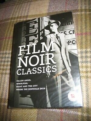 Film Noir Classics: Fallen Angel, Whirlpool, Night & The City, 1940s, 1950s • 14.95£