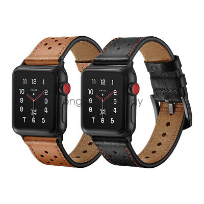 AU22.99 • Buy Dots Genuine Leather Watch Band Strap For Apple Watch SE IWatch Series 6 5 4 3 2