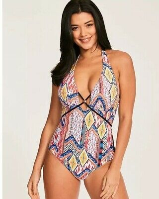 Figleaves @ Next Size 16 Long Tall Strappy Swimming  Costume / Swimsuit Bnwt • 24.99£