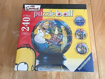 £11.99 • Buy The Simpsons 3D PUZZLE BALL 240 Puzzle Pieces Display Holder Instructions NEW
