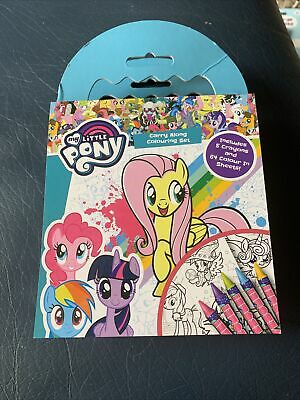 My Little Pony Carry Along Colouring Set Crayons Kids Travel Activity Colour • 1.99£