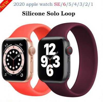 $ CDN6.05 • Buy SOLO Elastic Belt Loop Silicone Strap For Apple Watch 6 SE 5 4 3 2 1 IWatch Band