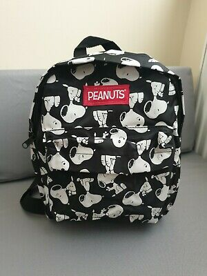 Officially Licensed Peanuts Snoopy Black Mini Backpack Back Pack Bag • 17.99£