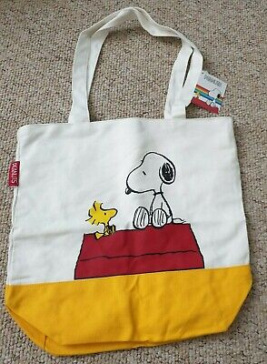 Officially Licensed Peanuts Snoopy And Woodstock Tote Bag Handbag Cotton Shopper • 15.99£