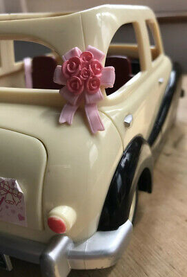 Sylvanian Families SPARES Wedding Car Pink Bow Ribbon Calico Critters Decoration • 3.99£