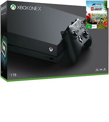 AU599 • Buy Brand New Microsoft Xbox One X 1TB Black Console+Forza Horizon4 Lego Speed Bundl
