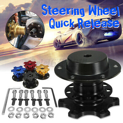 Car Quick Release Racing Adapter Snap Off Steering Wheel Boss Kit Hub Race Rally • 15.64£