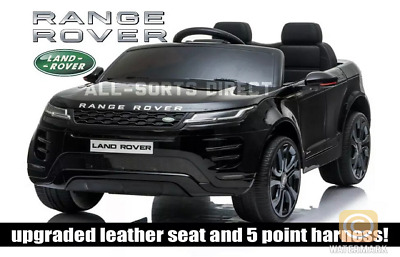 Licensed Black 2020 Range Rover Evoque 12v Electric Kids Childs Ride On Jeep Car • 180.40£