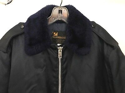 £14.54 • Buy Weathercaster Vintage USA Mens 46 Insulated Work Jacket Faux Fur Collar Coat