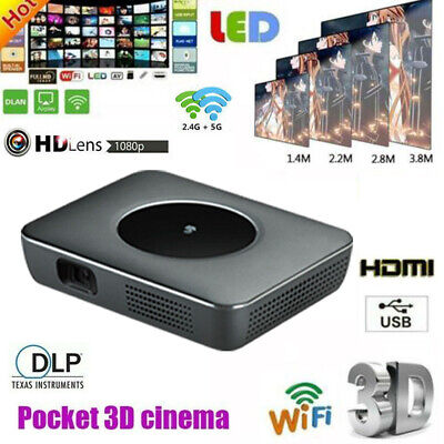 High 7000 Lumens Android DLP Home Cinema Projector Wifi 1080p HD 3D HDMI USB UK • 199.89£