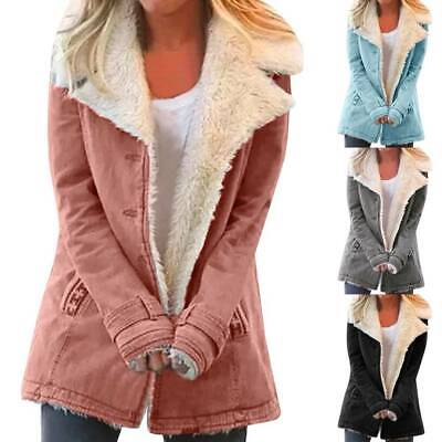 Women's Fleece Warm Jacket Coats Ladies Outwear Casual Winter Parka Overcoat NEW • 22.41£