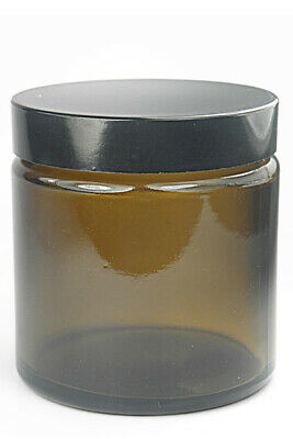 30ml Amber Brown Pharmaceutical/Cosmetic Glass Jar With Black Lid  • 16.99£