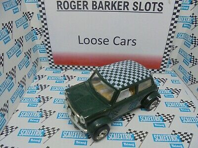 Scalextric Rally Mini Cooper Green Chequered Roof VGC  Unboxed Bargain • 20£