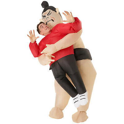 £39.95 • Buy Sumo Wrestler Inflatable Pick Me Up Costume Adult Funny Fat Suit Fancy Dress NEW