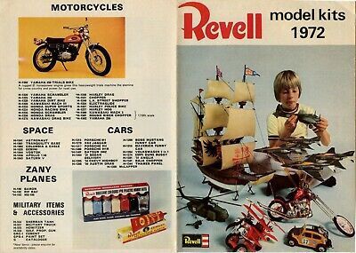 £7.50 • Buy Revell Model Kits 1972 Short-form 8 Sided A5 Catalogue Flyer Mint Condition