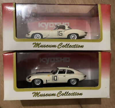 Kyosho 1:43 Jaguar E Type Coupe And Roadster Pair Lightweight Rare X 2 • 37.50£