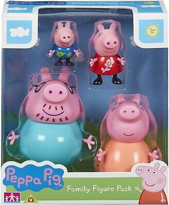 Peppa Pig Family Figures Pack  Mummy Daddy  Peppa George Kids Play Toy Set New • 11.98£