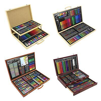 Artists Wooden Art Case Pencils Crayons Colour Painting Oil Pastels Set • 19.99£