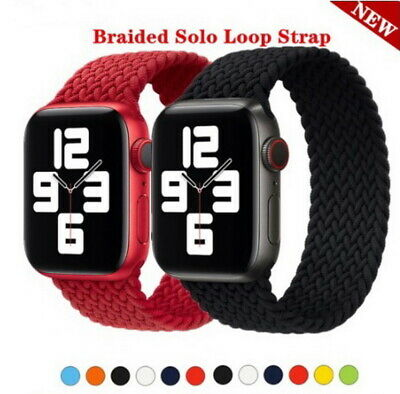 $ CDN13.16 • Buy IWatch Braided And Solo Loop Strap For Apple Watch Band 44mm 38mm 42mm Silicone