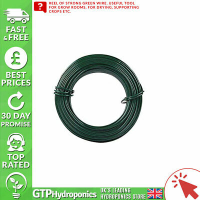 Green Wire Cable 50m - Grow Room Garden Accessory Tool • 8.61£