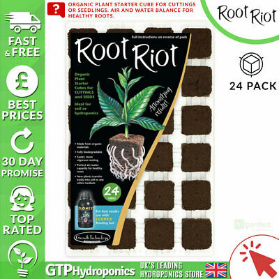 £9.64 • Buy Root Riot 24 Propagation Plant Starter Cubes Hydroponics Clones Seedlings