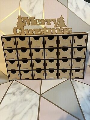 £18.99 • Buy Handmade Make Your Own Wooden Advent Calendar Craft Kit Merry Christmas Decorate