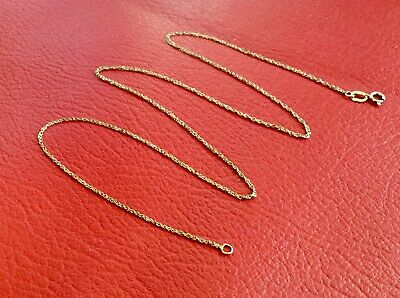 AU115 • Buy Stamped '375' Solid Yellow Gold 9ct Rope Chain Necklace 43cm, 0.84grams