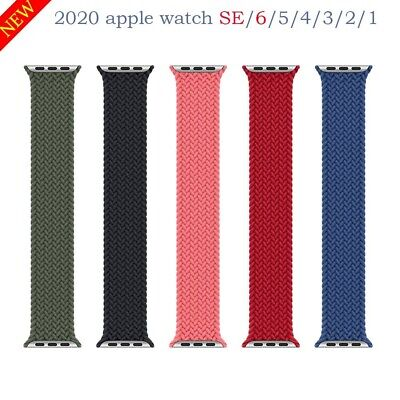 $ CDN24.99 • Buy Strap For Apple Watch Series 6 Se 5 4 3 Braided Silicon Solo Loop Elastic Belt