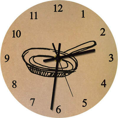 275mm 'Frying Pan' Large Wooden Clock (CK00034884) • 14.99£