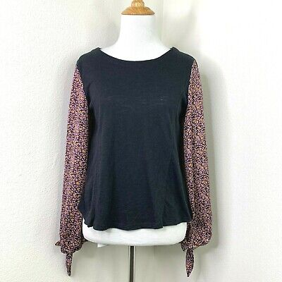 $ CDN28.67 • Buy Anthropologie Maybelle Tied Sleeves Shirt Women's Size XS Long Silky Sleeve Top