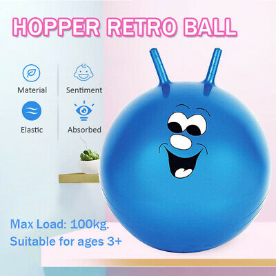 £7.99 • Buy Large Space Hopper Retro Ball Exercise Indoor Outdoor Bounce Jump Toy Kids Adult