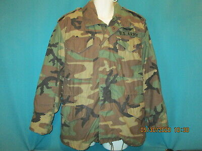 $69.99 • Buy US ARMY M65 Woodland Camo Cold Weather Hooded Field Jacket Coat Small Regular