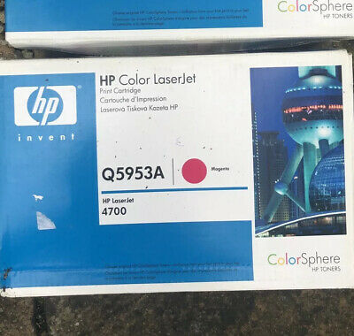 HP Genuine Q5953A Magenta Toner Cartridge 643A HP Laserjet 4700 Unused New • 70£