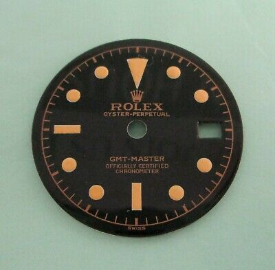 $ CDN388.41 • Buy ~ Vintage Rolex #6542 GMT Gloss Black Refinished Dial ~