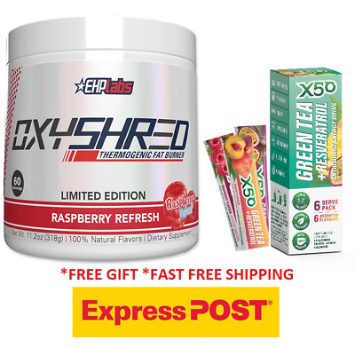 AU79.90 • Buy Ehp Labs Oxyshred  Raspberry Refresh New Flavour Limited Edition Free Express
