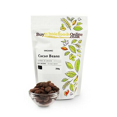 £7.77 • Buy Organic Cacao Beans 250g | Buy Whole Foods Online | Free UK Mainland P&P