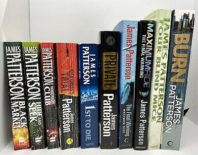 AU79.99 • Buy James Patterson - Lot Of 10 Books - Burn Maximum Ride 1st To Die Trial And More