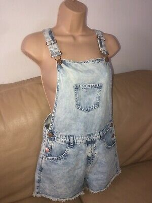 Girls Dungarees Shorts Age 12-13 Years • 3.99£