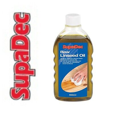 Supadec Raw Linseed Oil For Wood Treatment French Polishing Lubricant 500ml • 6.80£