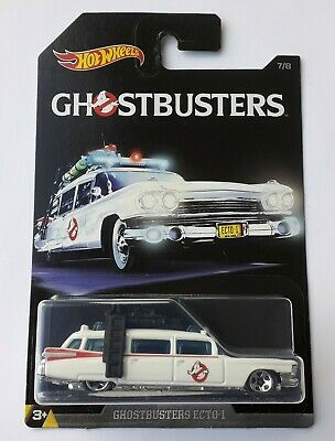 Hot Wheels Ghostbusters Ecto-1 Cadillac Hard To Find, Beautiful Model • 15£